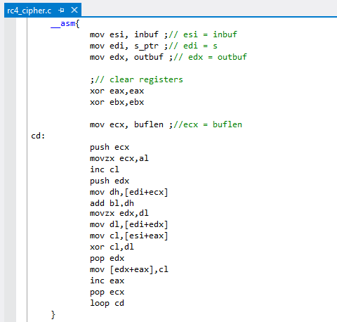 RC4 Cipher in Assembly - CharmySoft